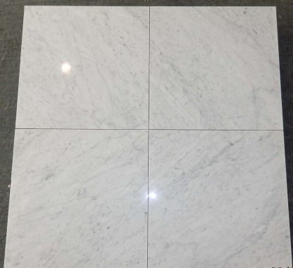 Bianco Carrara 60x60x1 Porcelain Backed
