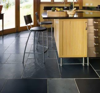 Black Brazilian Slate Cleft Opus Pattern