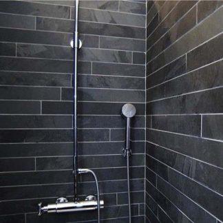 Black Brazilian Slate Strips Cleft Tiles
