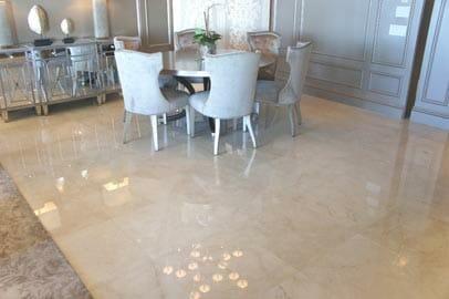 Crema Marfil Marble Floor
