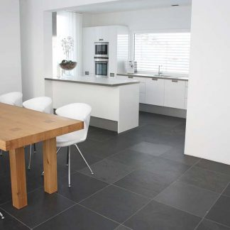 Grey Brazilian Slate Brushed Tiles