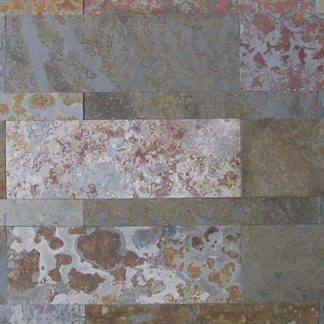 Multicolour Brazilian Slate Strips Cleft Tiles
