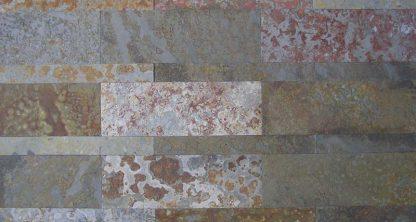 Multicolour Brazilian Slate Strips Cleft Tiles
